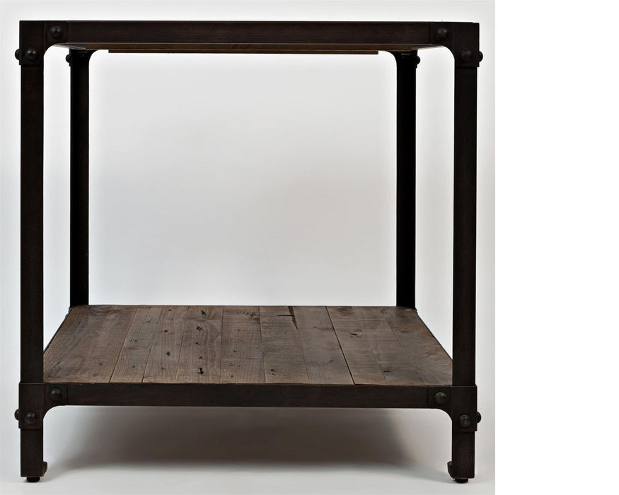 1540-3 FRANKLIN FORGE COLLECTION INDUSTRIAL END TABLE W/SHELF