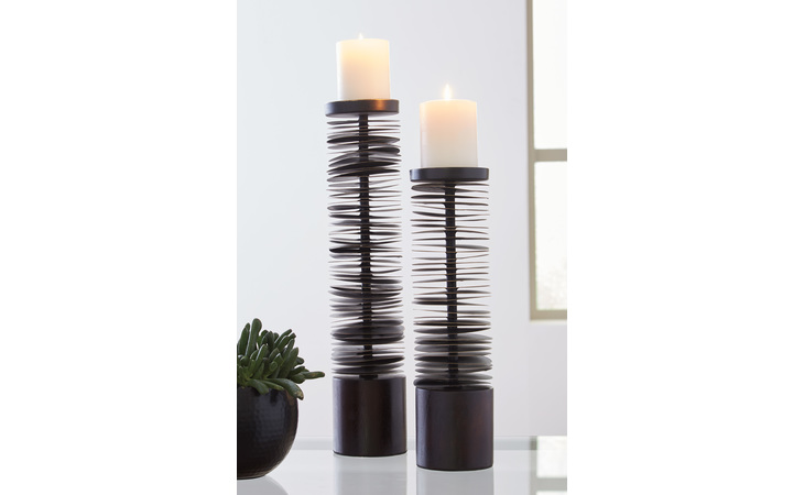 A2000199 CONSTANCE CANDLE HOLDER SET (2/CN)