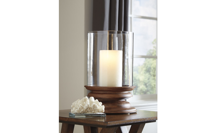 A2000260 DOUGAL CANDLE HOLDER/DOUGAL/BROWN