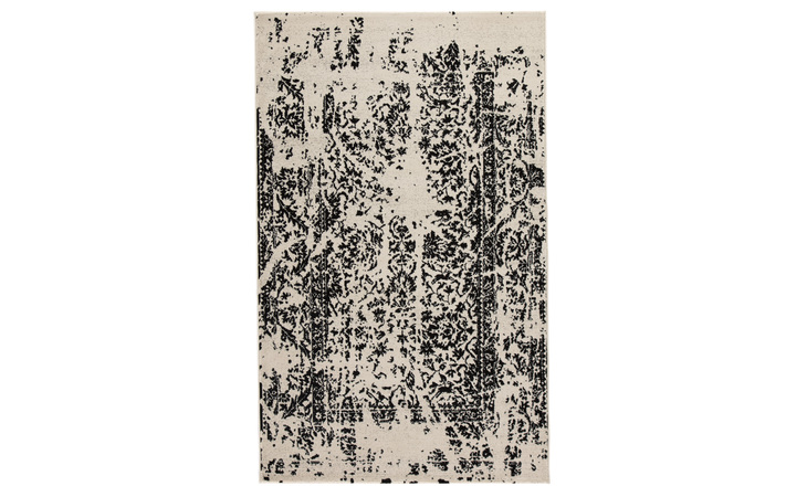 R400741 JAG LARGE RUG/JAG/BLACK/WHITE