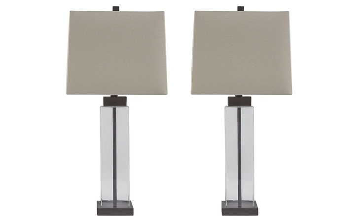 L431374 ALVARO GLASS TABLE LAMP (2/CN)/ALVARO