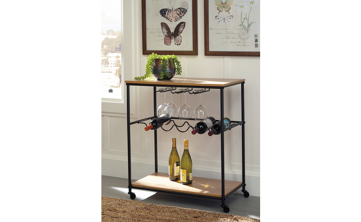 A4000119 JADONPORT BAR CART/JADONPORT/BROWN/BLACK