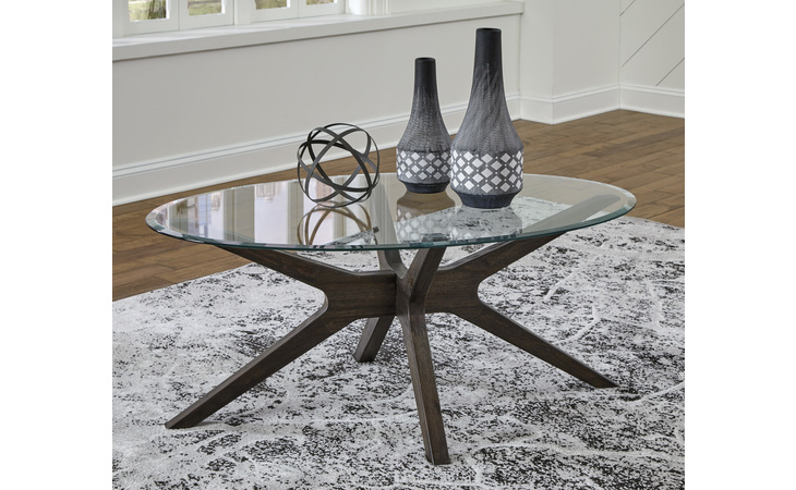 T348-0 ZANNORY OVAL COFFEE TABLE/ZANNORY
