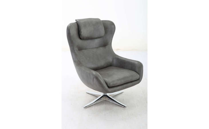 US-185703(LGS02  SWIVEL EURO CHAIR W/CHROMED BASE AVAILABLE IN 3 COLOURS