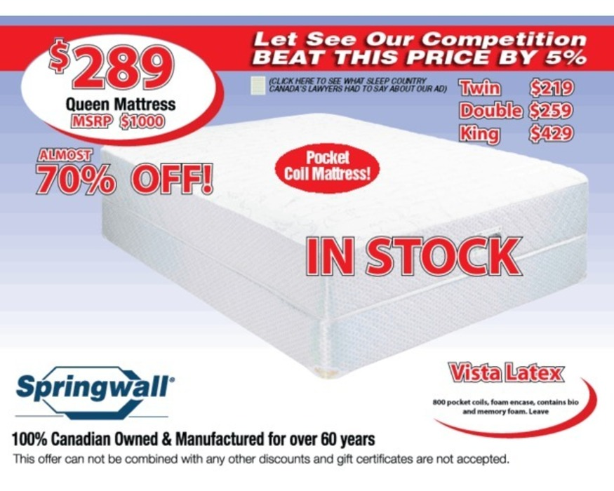 CP0188030  CLEARANCE TWIN BOXSPRING
