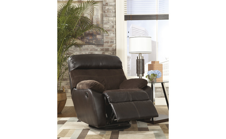5450128 BERNEEN - COFFEE SWIVEL ROCKER RECLINER BERNEEN COFFEE