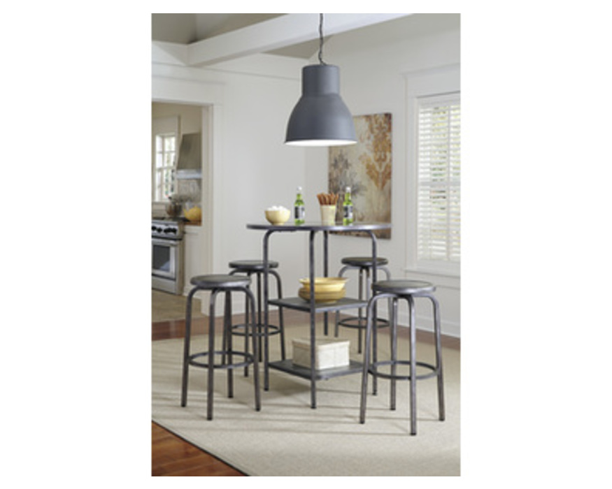 D560-12 HATTNEY ROUND DINING ROOM BAR TABLE
