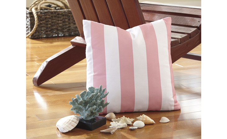 A1000685  PILLOW (4/CS) HUTTO WHITE/PINK ACCENTS