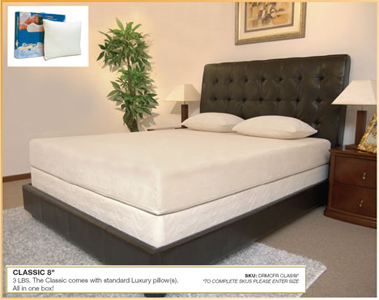 Classic 8 Compressed With Luxury Std Pillow