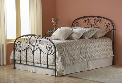 Grafton Bed Rusty Gold Twin Bed W Frame