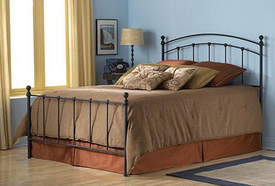 Sanford Bed Matte Black Twin Bed Complete W/ Frame