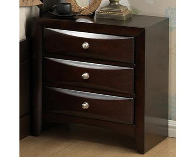 NIGHTSTAND 3DRW BLACK