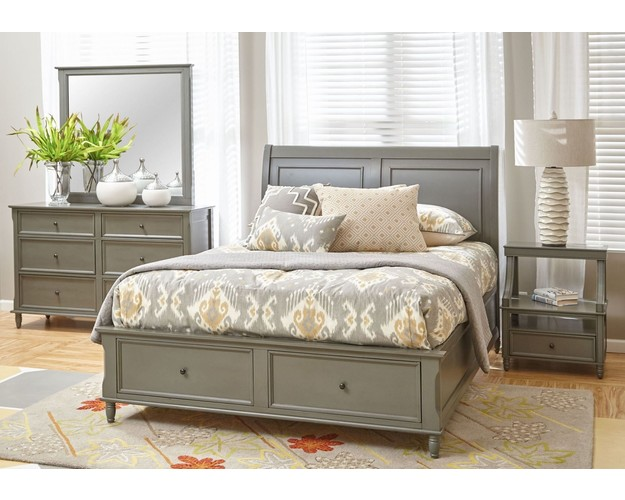 AVIGNON GREY QUEEN PANEL HEADBOARD