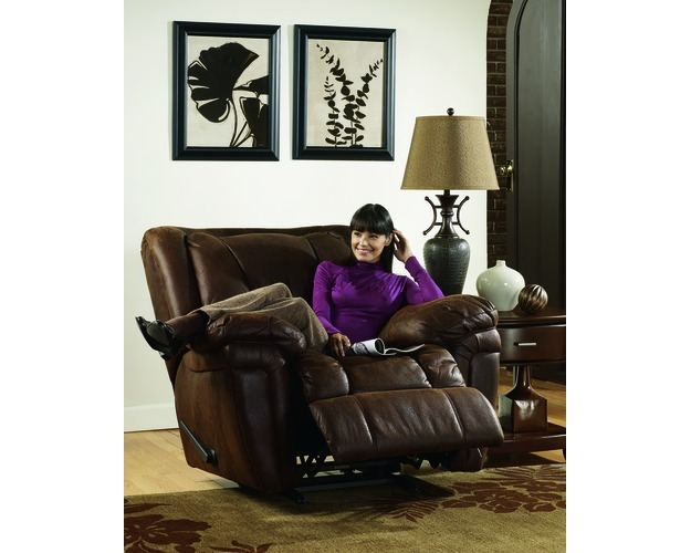 Rocker Recliner-recliners-blake - Walnut