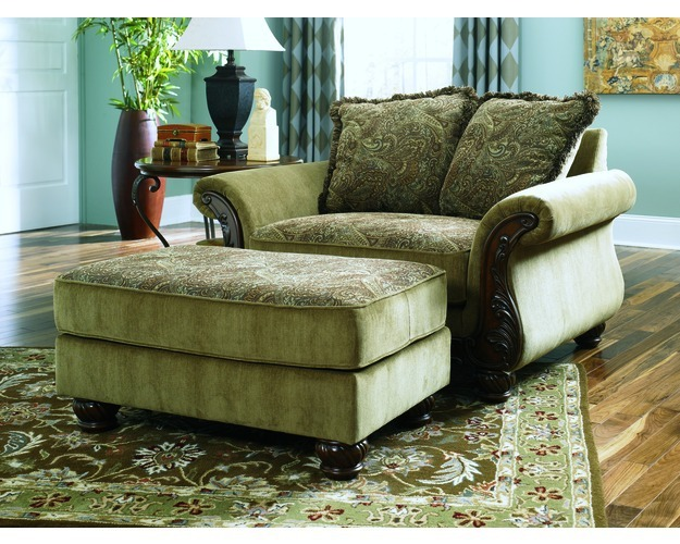 Ottoman-stationary Upholstery-millington - Meadow
