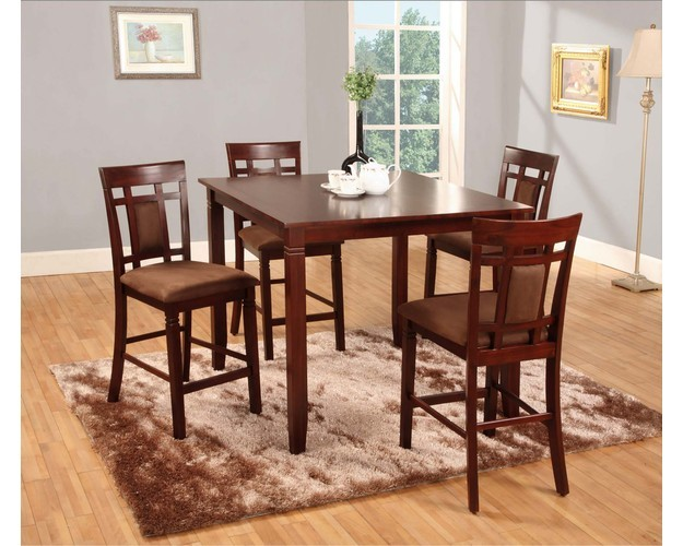 Aran 5pc Pub Table And 4 Stools