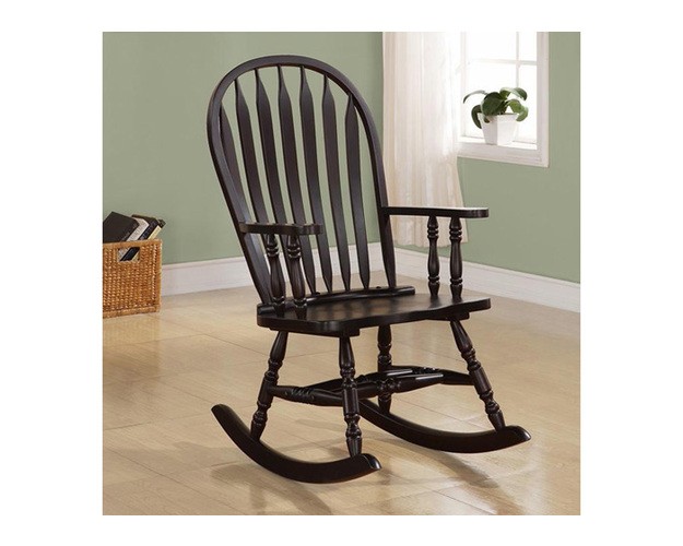 ROCKING CHAIR - 42H / CAPPUCCINO ARROW WINDSOR BACK