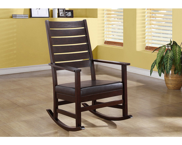 ROCKING CHAIR - 43H / CAPPUCCINO SLAT BACK