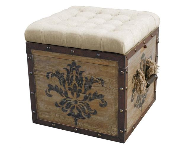 TUFTED CRATE STORAGE OTTOMAN ITEMS - DROP SHIP
