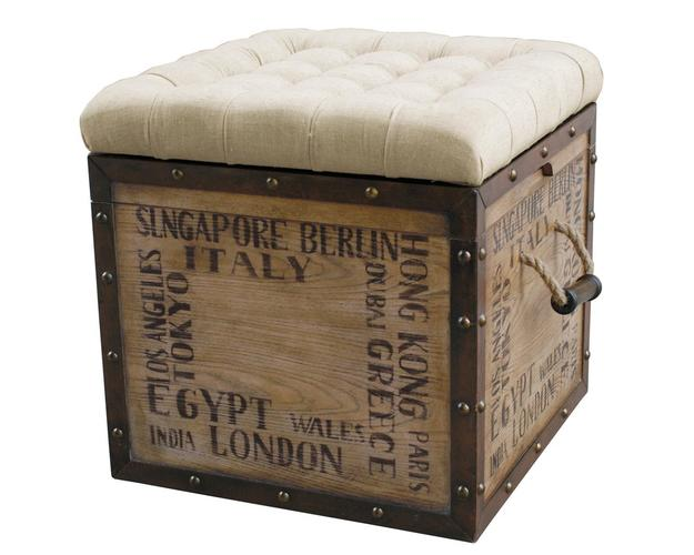 TUFTED CITY CRATE STORAGE OTTOMAN ITEMS - DROP SHIP