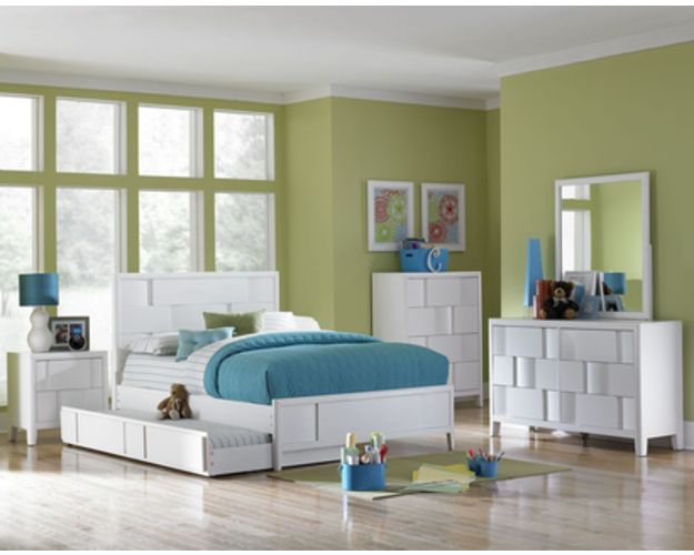 YOUTH PANEL BED TRUNDLE WHITE