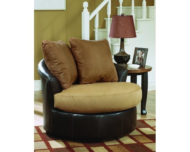 Round Swivel Chair-chairs-lawson - Saddle
