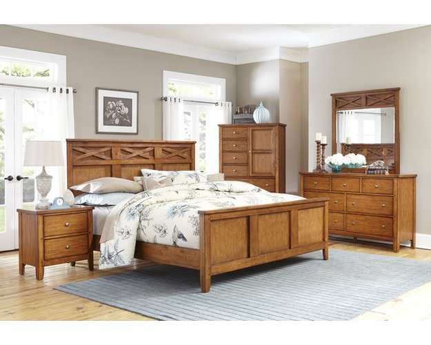 OAK FINISH KING HEADBOARD