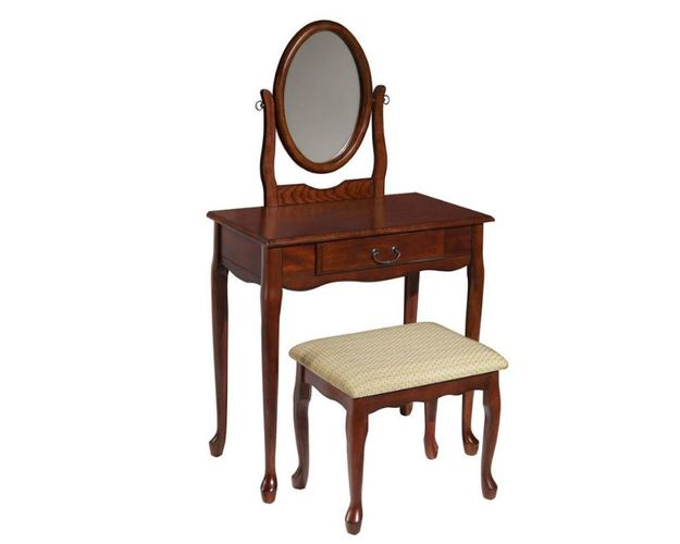 WOODLAND CHERRY VANITY/MIRROR/BENCH