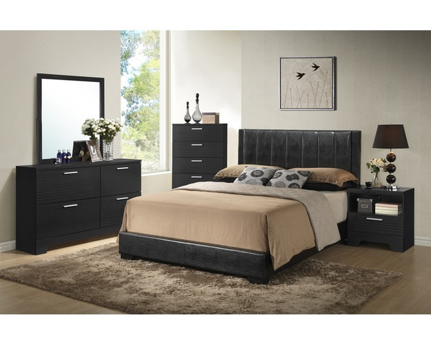 DRESSER W/FULL EXTENTION DRW GLIDES 4 DRW BLACK