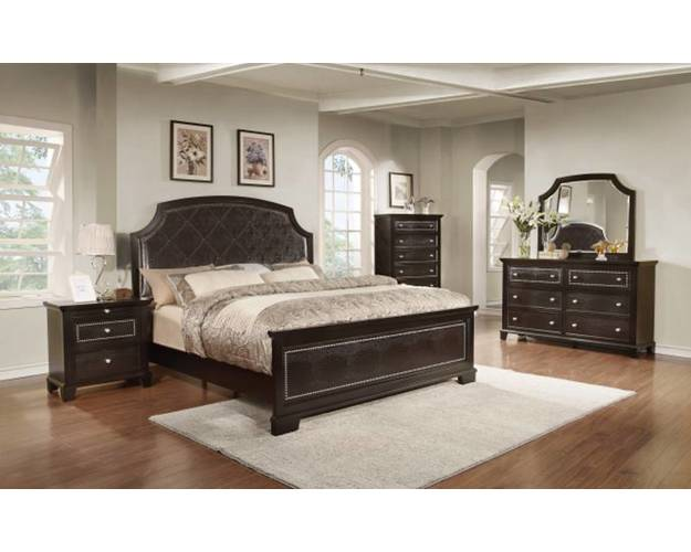 KING/CAL KING PANEL HEADBOARD DARK ESPRESSO