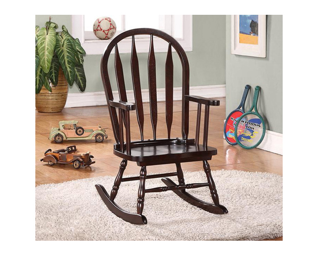 ROCKING CHAIR - 28H / CAPPUCCINO JUVENILE ARROW BACK