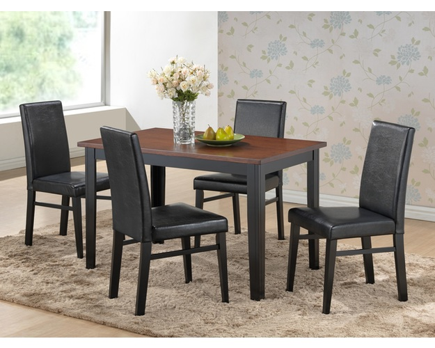 DINING TABLE FINISH=CHERRY/BLK