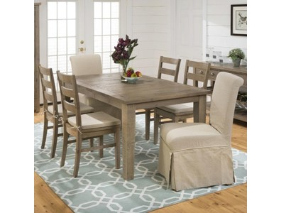 LEG DINING TABLE W/EXTENSION LEAF
