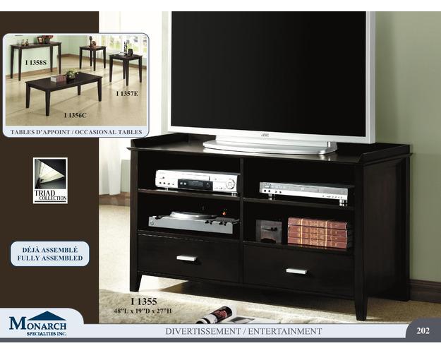 Cappuccino Oak Veneer 48l Tv Console   Pg202