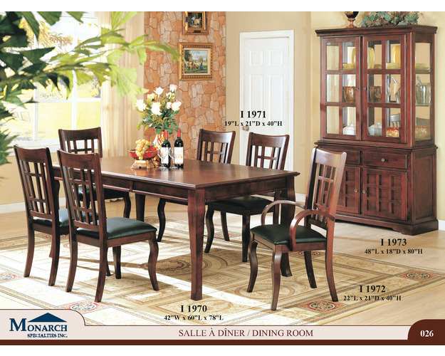 Dark Cherry Veneer 42x 78 Dining Table With An 18 Leaf   Pg26