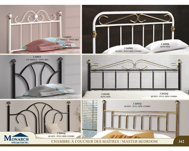 Satin Black Queen / Full Size Combo Headboard Only   Pg342