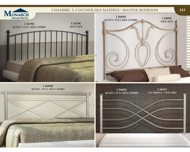 Pewter Queen / Full Size Combo Headboard Only   Pg343