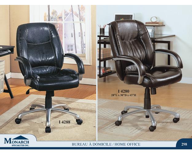 Dark Brown Leather Look Office Chair   Pg298