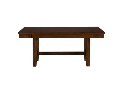 DINING-TO-COUNTER HEIGHT DINING TABLE W/TWO TAKE OUT LEAVES
