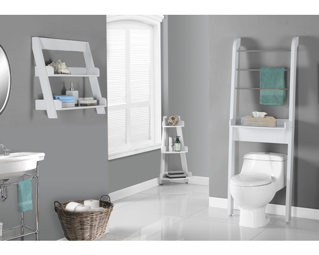 BATHROOM ACCENT - WHITE BATHROOM SPACE SAVER