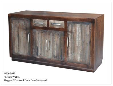 OXYGEN 2 DRAWER 4 DOOR EURO SIDEBOARD