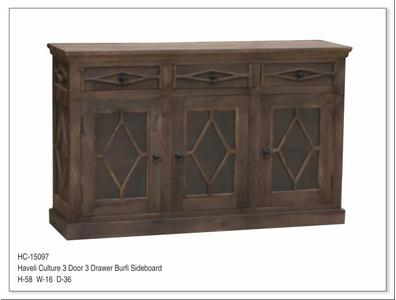 HAVELI CULTURE 3 DOOR 3 DRAWER BURFI SIDEBOARD