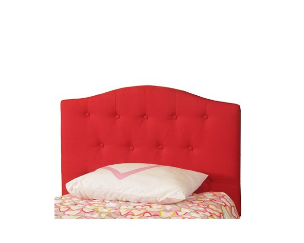 RED BUTTON TUFT TWIN HEADBOARD