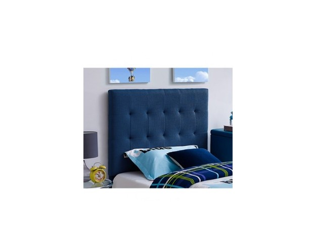BLUE QUILTED TWIN HEADBOARD