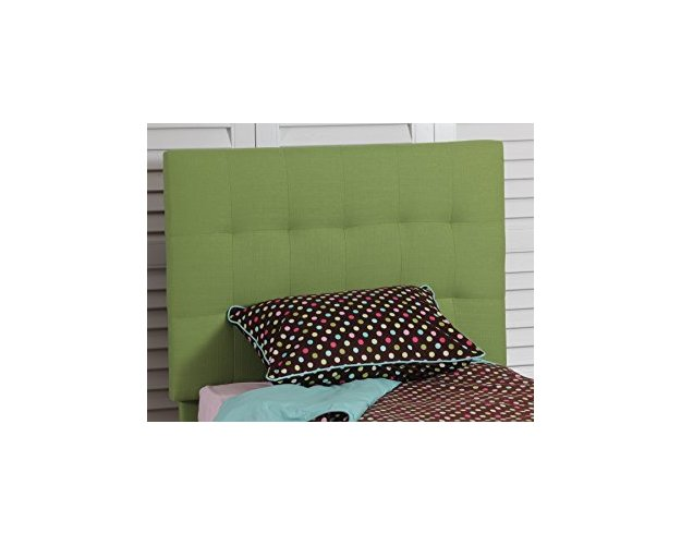 GREEN QUILTED TWIN HEADBOARD