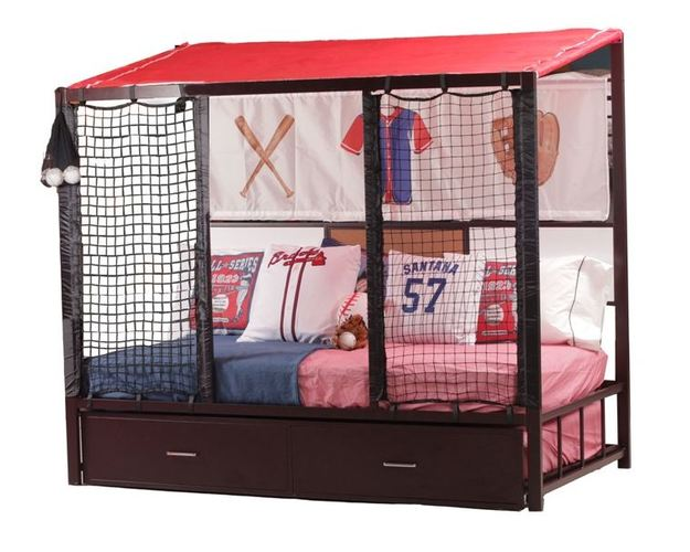 HOME RUN DUGOUT BED W/TRUNDLE