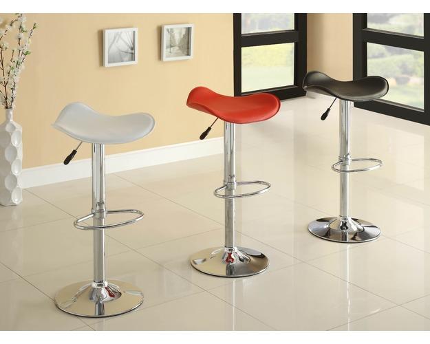SWIVEL STOOL WHITE PVC 2/CTN