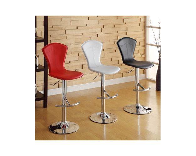 SWIVEL STOOL RED PVC 2/CTN