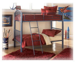 METAL TWIN/TWIN BUNK BED,
