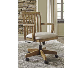 HOME OFFICE SWIVEL DESK CHAIR TRISHLEY SIGNATURE